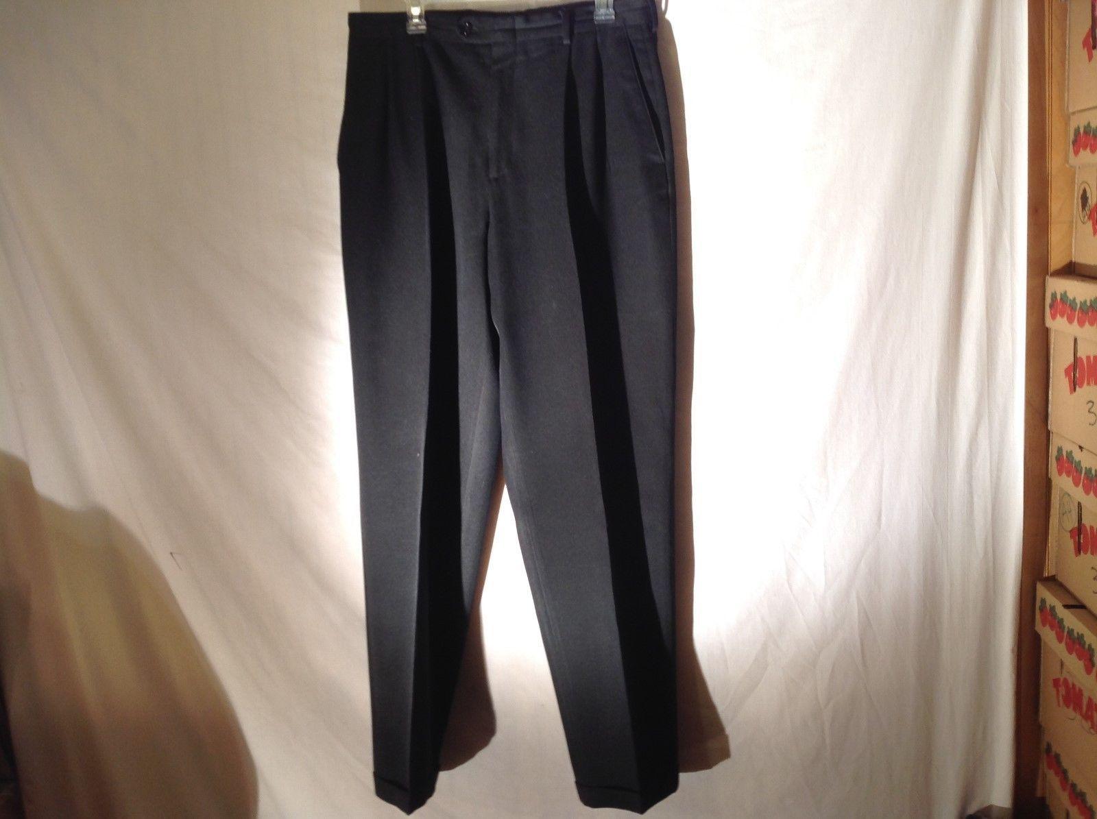 Mens Claiborne Black Casual Pants Sz 34 x 34