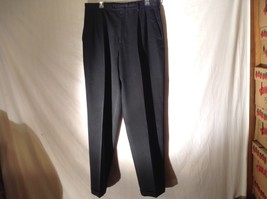 Mens Claiborne Black Casual Pants Sz 34 x 34