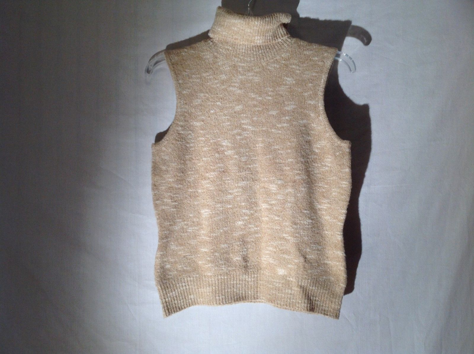 Womens Beige Sleeveless Turtleneck by Evelyn Sz PM