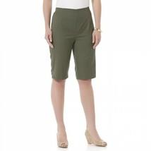 Women's Laura Scott Twill Skimmer Shorts Thyme Size 12 Petite NEW  - $16.82