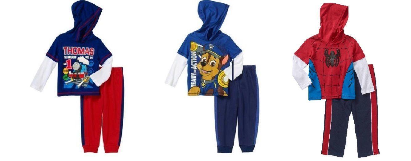 8b0b688f398a4 Thomas Paw Patrol Spiderman Toddler Boys 2pc Outfits 3 Choices Various  Sizes NWT
