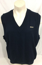 Cutter & Buck Dark Navy Vest RCA Cable Knit New With Tags Men's XL - $49.99