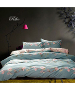 Riho 100% Pima Cotton Queen Size Girls Bedding Sets Rural Bedding Sheets - $69.99