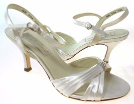 COLORIFFICS TORI WOMEN'S WHITE SATIN STRAPPY HIGH HEEL SANDALS, #5754 - $9.99