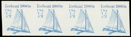 2134a MNH XF 14¢ Ice Boat Imperforate Strip of 4 ERROR Cat $160.00  Stua... - $95.00