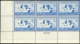 RW15, Mint XF NH $1 Duck Plate Block of Six Stamps Cat $400.00 - Stuart ... - $275.00