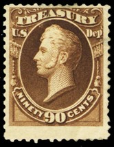 O82, Mint HR 90¢ Treasury Official Stamp Cat $400.00 - Stuart Katz - $125.00