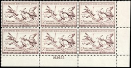 RW20, Mint XF NH $2 Duck Plate Block of Six Stamps Cat $550.00 - Stuart ... - $400.00