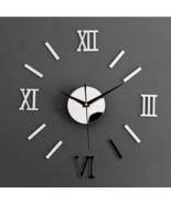 3D Acrylic Digital Wall Clock Roman Numerals Design Large Round Wall Clo... - $12.55