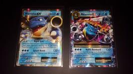 Pokemon EX Cards Mega Blastoise EX + Blastoise EX 2 Card Set 21/108 + 22... - $17.80
