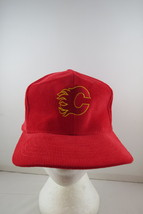 Calgary Flames Hat (VTG) - Corduroy Classic by Starter - Adult Snapback - $49.00
