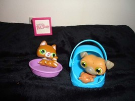 Littlest Pet Shop LPS Bobble Head Rare Striped Orange Cat Kitten Pug Dog... - $6.93