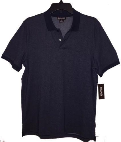New Men's Authentic Michael by Michael Kors Navy Blue Polo Shirt Size M
