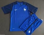 France Jersey Soccer Shirt Football Kit Euro 2016 Cup National FFF Mens S M L XL
