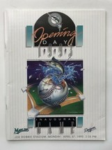 Florida Marlins Opening Day Inaugural Year 1993 Program Miami Marlins Fr... - $13.00