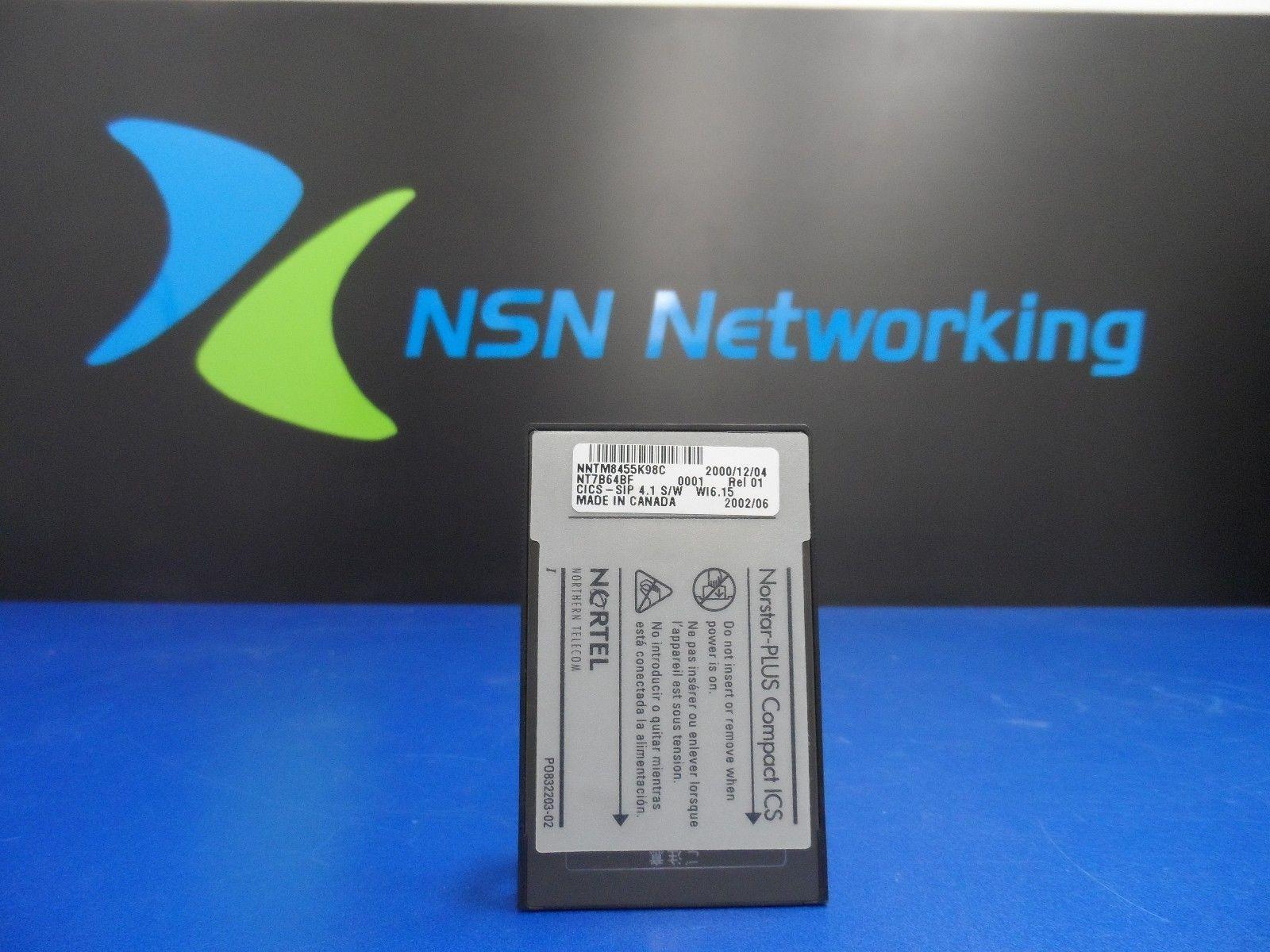 Nortel NT7B64BF REL 01 CICS SIP 4.1 S/W WI 06.15 CICS System Software
