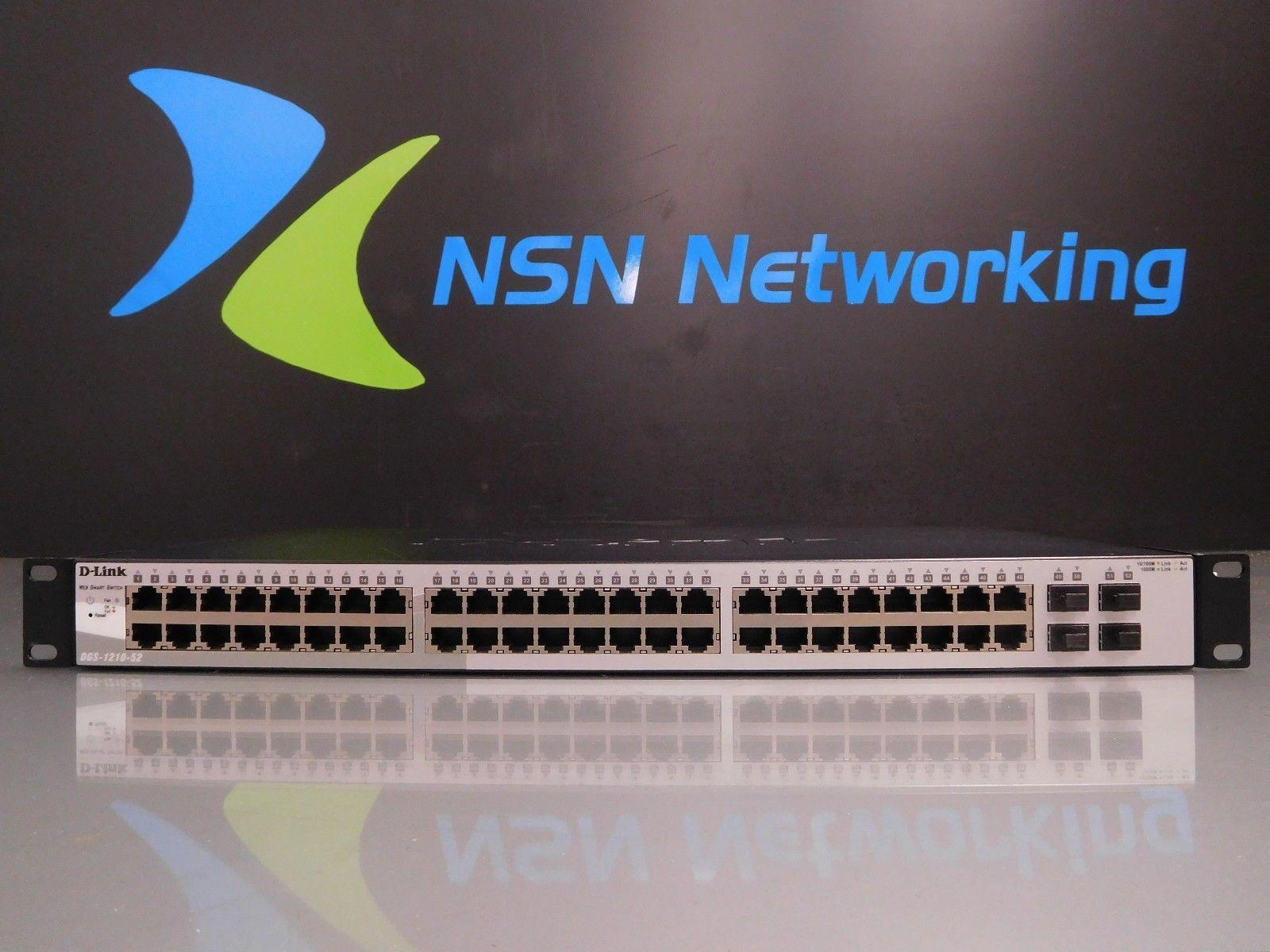 D-Link 48-Ports External Switch Managed DES-3252P w// Rack Ears OC