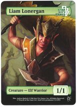 Magic The Gathering MTG Promo Token Liam Lonergan Elf Warrior Star City ... - $3.50