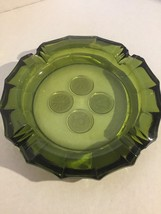 vintage Fostoria Coin Pattern Glass Ashtray Oli... - $12.86