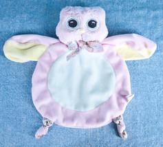 "Bearington Baby Hoots Owl Pink Blue Yellow 9"" P... - $7.95"