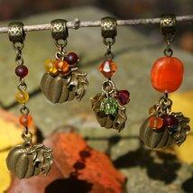 Choice of Antique Bronze Harvest Pumpkin Pendant - $15.00