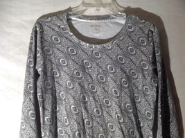 Womens Black White Stretchy Long Sleeve Shirt by White Stag Sz M 8 10 image 2