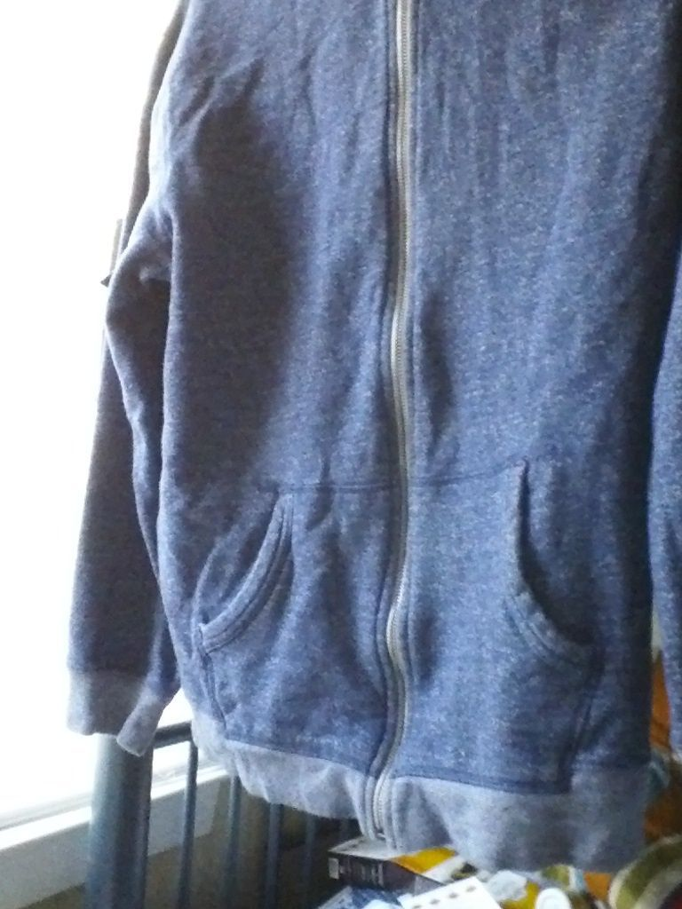 OLD NAVY L LARGE BLUE WHITE SPOTTED HOODIE