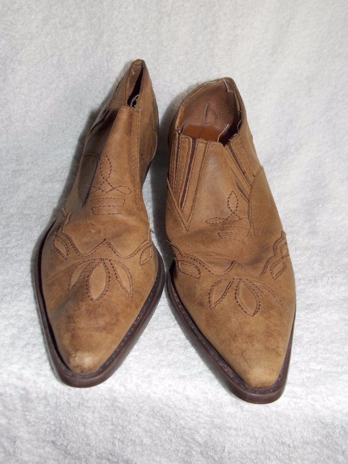 Nine West Brown/Tan Slip On Mules 8M Used