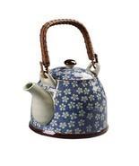 Japanese Style Porcelain Teapot, Plum Blossom 30 OZ, BLUE - $50.46 CAD