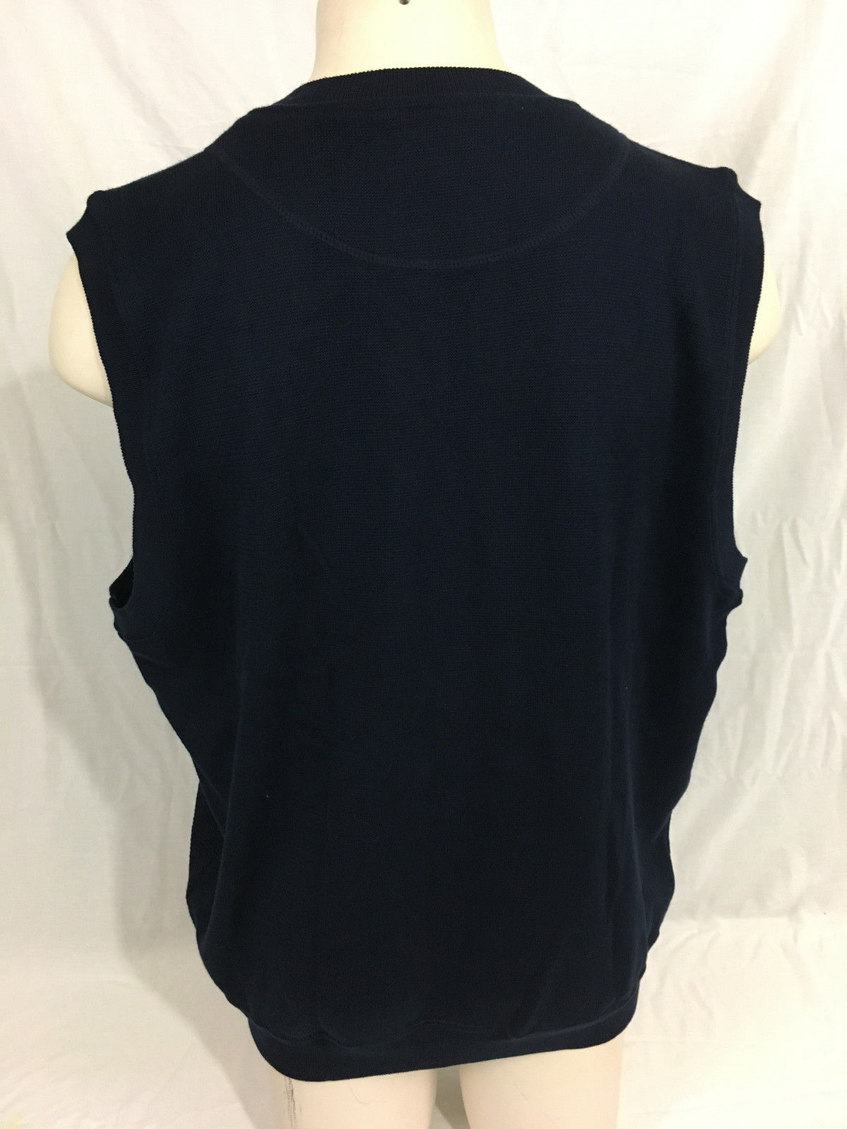 Cutter & Buck Dark Navy Vest RCA Cable Knit New With Tags Men's XL image 3