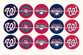 Printed Precut WASHINGTON NATIONALS inspired 1 inch images for bottlecap... - $2.00