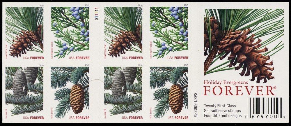 4481d, Die Cutting Omitted ERROR Pane of Evergreen Stamps - Stuart Katz