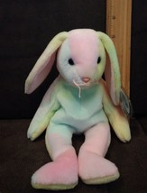Rare 1999 Ty Beanie Baby Hippie Rabbit Easter Bunny NEW Retired  - MWMT - £4.35 GBP