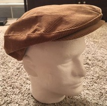 Vintage Country Gentleman Brown Corduroy Cabbie Hat, Size 7 3/8, Union Made USA - $24.99