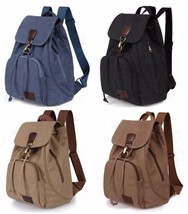 Brand vintage casual women canvas backpack draw... - $19.35