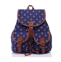 Women Canvas Backpacks New Brand Anchor Floral ... - $19.08