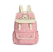 New Women Backpacks Cute Bear Polka Dot Printin... - $15.40