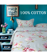 Riho 3-Piece Twin Size Rural Flower 100% Cotton Girls Bedding Sets Bed S... - $59.99