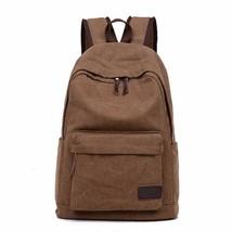 Vintage Men Canvas Backpack School Satchel Bags... - $14.99
