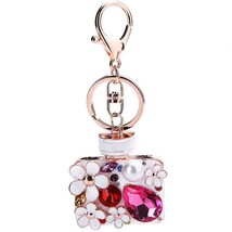 18K Multicolor Crystal handbag keychain Charm Crystal Purse Bag Key Chai... - $3.37