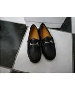NIB 100% AUTH Gucci Kids Black Leather Horsebit Loafer Shoes 257801 - $168.00