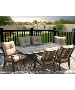 7PC DINING SET FOR 6 PERSON WITH 44X84 RECTANGLE SERIES 2000 TABLE - ANT... - $2,320.56
