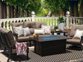 Patio 6PC Set Sofa, Loveseat, Club Swivel Rocker, 2-END Tables 34 X 58 Rect Fire - $5,667.75
