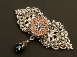 Barrette in oriental style with elaborate beadw... - $48.00