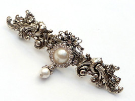 Large bridal barrette wedding hair accessories,... - $48.00