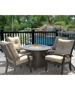 """PATIO 5PC DINING SET FOR 4 PERSON WITH 42"""" ROUND FIRE TABLE SERIES 7000 - $3,232.35"""