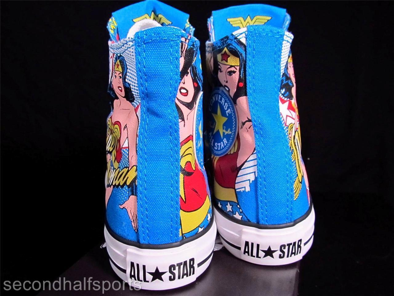 Converse Wonder Woman DC Comics Chuck Taylor All Star Sneakers 137673C NWOB
