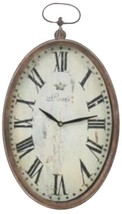 PARIS Wall Clock Oval Iron Bronze FREE SHIPPING* - $99.00