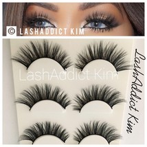 ❣️ MINK LASHES 3D Eyelashes 3 Pairs Wispy Flair Fluffy New - USA SELLER ❣️ - $8.99
