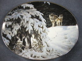 Vigilant Companions Collector Plate Winter Shadows Persis Clayton Weirs ... - $21.95